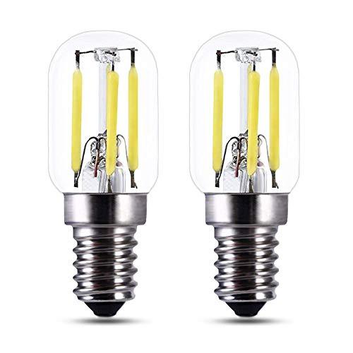 Lampadina LED Vintage E14 Luce Fredda 6000K, DC 12V-24V, T22, 3W Equivalente a Incandescenza E14 25W, 250LM, Lampadine LED 24 Volt per Porta del Garage, Luci Decorative, set di 2