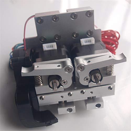 Alta qualità Aggiornamento carrello in alluminio estruso Prusa i3 in metallo + doppio estrusore in metallo 12V / 24V PTFE lineare barriel 0.4mm ugello (Size : 12V version)