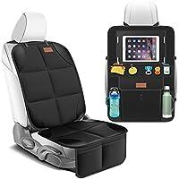 Smart eLf Car Seat Protector + Backseat Car Organizer Kick Mat