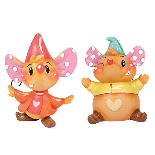 """Disney by Miss Mindy, Figura de Jack Y Gus Gus de """"La Cenicienta"""", para coleccionar, Enesco"""