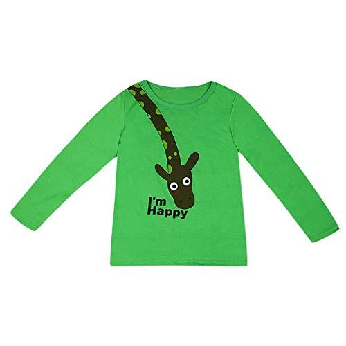 K-Youth de 1 a 7 años Ropa Bebe Niño Otoño Invierno Patrón de Jirafa Camiseta Manga Larga Bebe Blusa de Niños Ropa para Niña Primavera Chandal Bebes Niñas Tops en Oferta 2019
