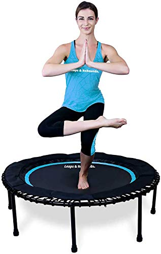 Leaps & ReBounds: Rebounder -Fitness Trampoline - Full-Size Protective Mat - Minimal Joint Impact - High-Calorie Burn - Improve Cardio, Balance, and Physical Strength