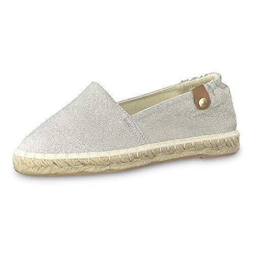Tamaris Damen 1-1-24610-22 919 Slipper, Silber (Silver Glam 919), 41 EU
