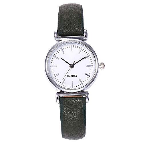 Fashion Damen Armbanduhr, LEEDY Frauen Analog Quarz Uhr Einfache Uhren Watch mit Lederband Quarzuhr Damenuhr Geschenk 2019 Neu