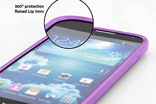 Cadorabo Hülle für Huawei Ascend Y300 - Hülle in Flieder VIOLETT – Handyhülle aus flexiblem TPU Silikon im X-Line Design - Silikonhülle Schutzhülle Soft Back Cover Case Bumper - 2