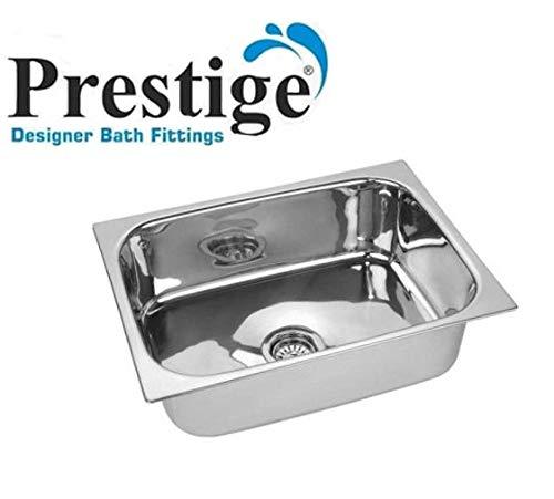 Prestige Oval Bowl Stainless Steel Vessel Sink (Silver)-24X18X10