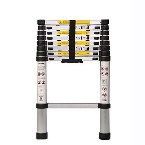 ASWT-telescopische ladder, eenzijdig tegen de muur Multifunctionele Profession Draagbare vouwen Ladder DIY Home dikker aluminiumlegering anti-slip Engineering rechte ladder