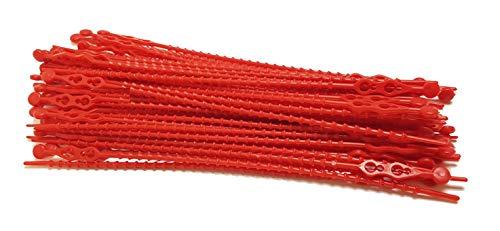 Blitzbinder - Kugelbinder - Mehrzweckbinder - Kabelbinder - 180mm Rot 50Stck. - Premiumqualität von PC24 Shop & Service