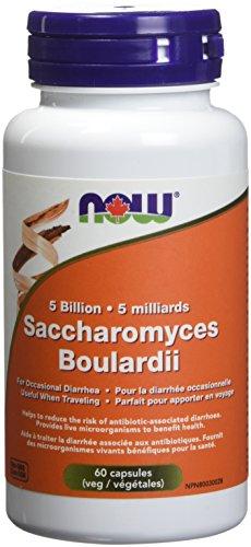 NOW S. Boulardii 5 Billion (Diarrhea Relief) 60 Veg Capsules (DF), 60 g