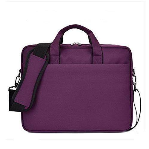 15.6-inch Draagbare Laptop Bag Heren Schoudertas Grote Capaciteit Zakelijke Aktetas, 38 × 29 × 6cm, Paars Doek Draagbaar