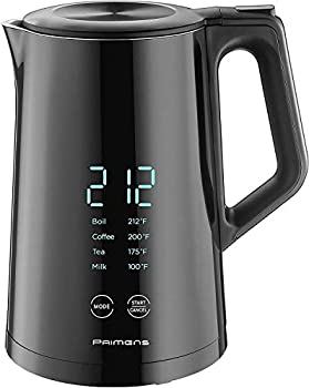 Smart Electric Water Kettle Variable Temperature Control Insulated - LED Display - Keep Warm - Water Heater Kettle for Tea&Coffee Double Wall Cool Touch Fast Boil Hot Water Kettle