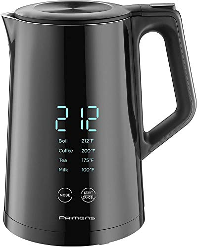 Smart Electric Water Kettle Variable Temperature Control Insulated - LED Display - Keep Warm - Water Heater Kettle for Tea&Coffee, Double Wall Cool Touch, Fast Boil, Hot Water Kettle