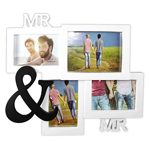 Precio en el Palo Fotos Mr. & Mr. | para 4 Fotos | Amor | Familia | Deko | Wohnen | Accesorios | presupuesto | Amor | Pared | Amistad | Regalo | Cristal | Valen tienstag