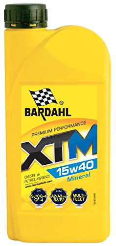 Bardahl Huile Moteur XTM 15W40 Minérale - Essence & Diesel 1L