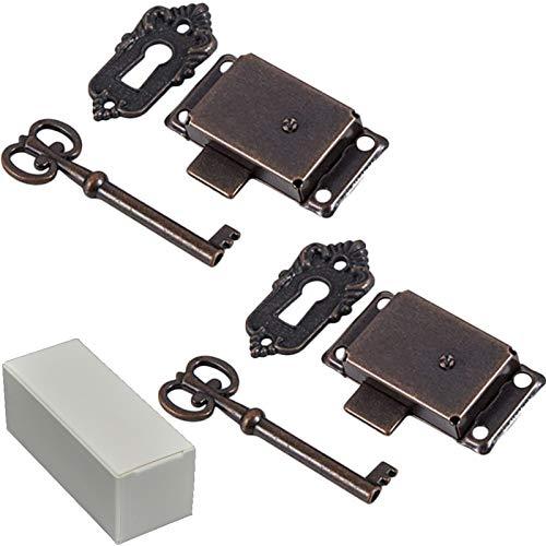 2 piezas Cerradura de la puerta del gabinete Cerradura de ar