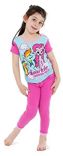 My Little Pony Little Magical 4-Piece Cotton Pajama Set, Rainbow Splash, 4