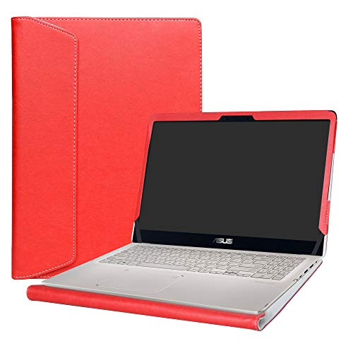 Alapmk Specialmente Progettato PU Custodia Protettiva in Pelle per 15.6' ASUS ZenBook Flip 15 UX561UD UX561UN & VivoBook Flip 15 TP510UA TP510UQ Series Notebook,Rosso