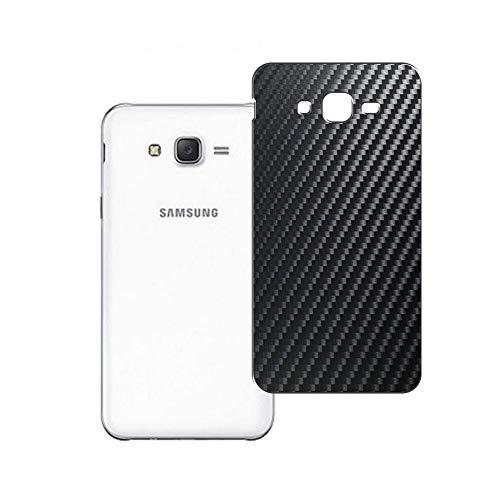 Vaxson 2 Unidades Protector de pantalla Posterior, compatible con Samsung GALAXY J2 2016 J210, Película Protectora Espalda Skin Cover - Fibra de Carbono Negro