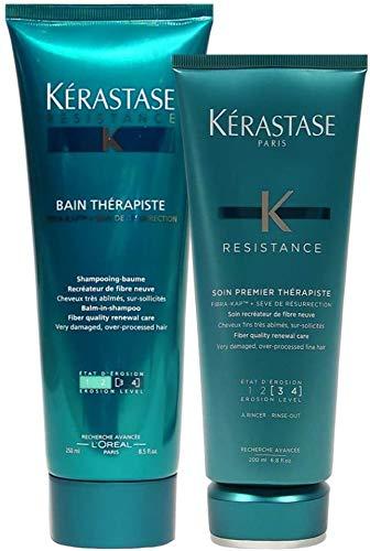 Kérastase Resistance Therapiste Bain (250 ml) y acondicionador (200 ml).