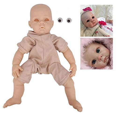 xianshi Valentinstag Karneval Reborn Doll, Babypuppe, DIY Puppenteile Vinyl Reborn Doll Kit Unlackierte Babypuppe Spielzeug Zubehör 22inch