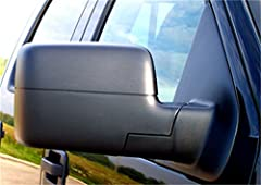 Slides over existing mirror with wedge lock security Custom design ensures a perfect fit and no annoying vibration Easy to install with no tools, Does not obstruct existing mirror required Fits: 2004-2014 Ford F-150, F-250 Light Duty; 2004-2014 Ford ...