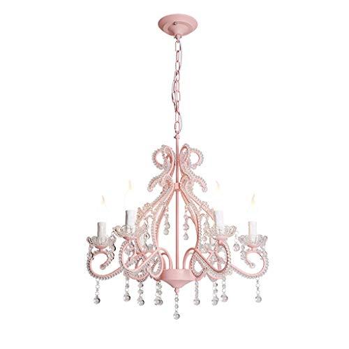 -Huishoudelijke Crystal Kroonluchter, Prinses Kamer Kroonluchter, Kinderkamer Lamp, Europese Roze Slaapkamer Decoratie Lamp, Amerikaanse Meisje, Mooie Crystal Lamp Hanglamp