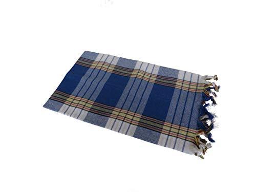 Hamam handdoek klassiek blauw (80x170cm)