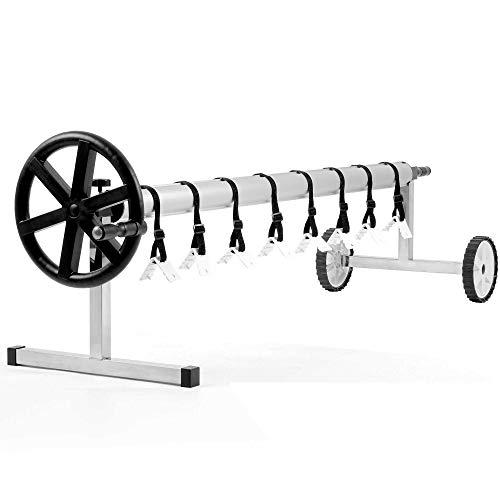 Zelsius Fahrbares Edelstahl Aufrollsystem, für Solar-, Pool Planen und Abdeckungen von 300 bis 570 cm | Poolüberdachung, Abrollvorrichtung