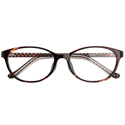 SHOWA ブルーライトカット 中近両用メガネ TRクリアドット (デミ) (レディースセット) 全額返金保証 ブルーライト カット 老眼鏡 おしゃれ レディース 女性 メガネ 眼鏡 パソコン PC メガネ リーディンググラス (瞳孔間距離:女性平均60m