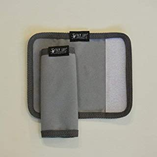 Palm Grips® - Sweat Grips for the use on Gym Equipment. Comfortable, Soft Microfiber or Chamois Grips with a Silicone Backing for Slip Resistance and Velcro Closure. Machine Washable.
