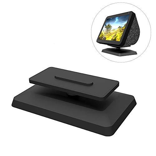 NOXTROND Adjustable Swivel Stand for Amazon Echo Show 8, Smart Speaker Holder, Mount Accessories, Magnetic Base, 360 Degree Swivel, Black