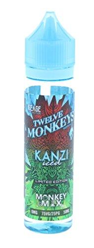 Kanzi Iced 50ml Twelve Monkeys ICE AGE e Liquid Premium, Short Files Shake and Vape 0,00mg Nikotin
