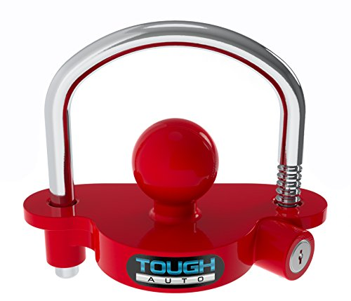 Tough Auto Trailer Hitch Lock Adjustable & Universal Fits All - Heavy Duty...