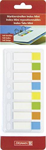 Brunnen 1055888 Markierstreifen Index Mini (Neonfarben transparent, rückstandfrei ablösbar, 160 Markierstreifen, abheftbar)