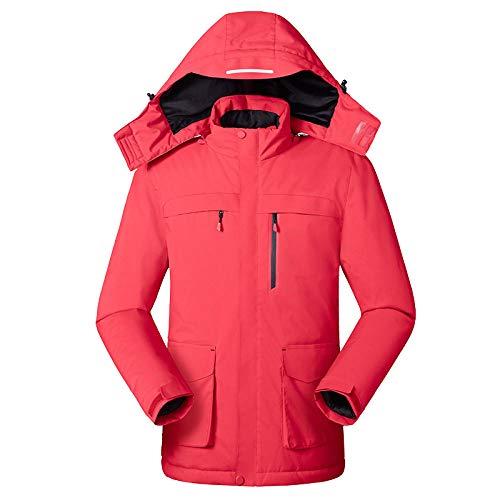 Wxiet Gilet Elettrico Riscaldato Giubbotto Riscaldato Donna e Uomo Temperatura Regolabile Lavabile Giacca Riscaldabile Invernale o per Campeggio Escursionismo Men-Red XL