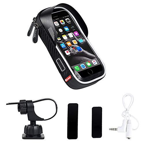 SHIZIZUO Bolsas de marco de bicicleta, WEST BIKING bicicleta teléfono bolsa MTB bicicleta pantalla táctil GPS navegación bolsa