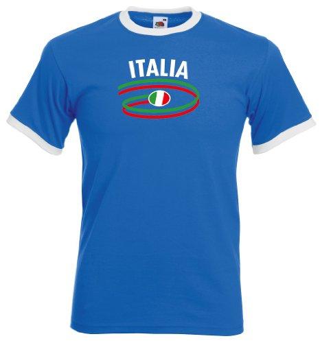 Italia / Italien Herren T-Shirt Dynamic Retro Trikot royal M