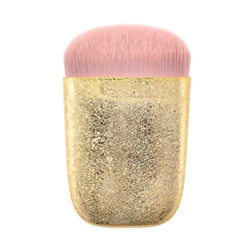 Beaupretty Pinceau de Maquillage en Poudre Plate Poignée en Plastique Cosmétiques Blush Glitter Brosse D'application sans Faille pour Femme Hommes Utilisation Quotidienne Doré