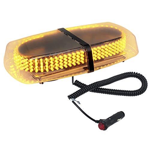 Justech Gyrophare LED Lampe Stroboscopique Feux de Pénétration 240LED Flash Plafonnier 12V 15W Ultra-brillant pour Eclairage Extérieur Avertissement Urgence de Voiture avec Ventouse Magnétique