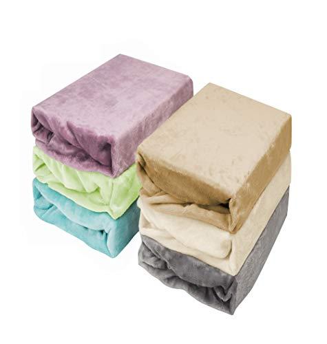 2er Sparpack Jersey Plüsch Qualität, Kinder Spannbettlaken für Kindermatratze 60x120 - 70x140, ÖKO Tex Geprüftes Spannbetttuch (grau, 2x 70x140)