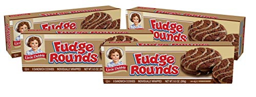 Little Debbie Fudge Rounds, 4 Boxes, 32 Individually Wrapped Cookies, 9.5 oz Box