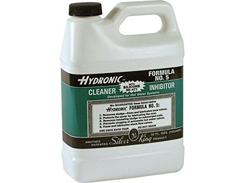 Silver King HF5SK471 1 Quart Hydronic Formula #5 Steam Boiler Cleaner Inhibitor With Silicone SK-471