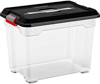 Kis 8461000 0271 02 Boîte de Rangement Moover Box 18 litres en Noir-Transparent, Plastique, 38x26,5x28 cm