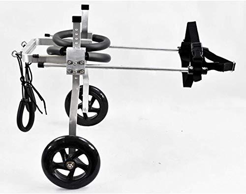 SSB Scooter Dog Cart Silla de ruedas patas traseras rehabilitación 2 ruedas silla de ruedas ajustable para perro viejo de 1 a 60 kg, gato y conejo (tamaño: XL)