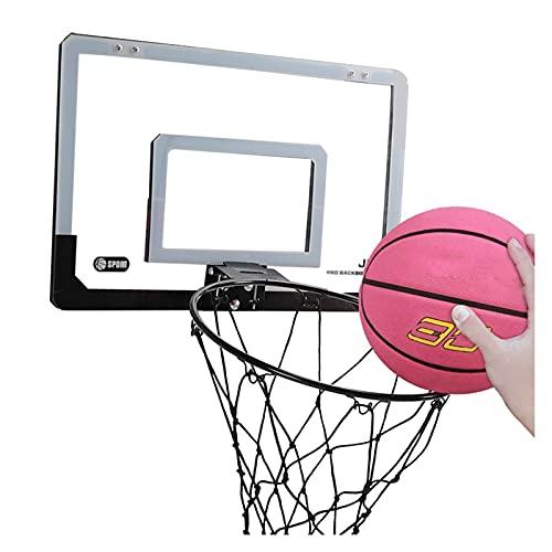 Canasta de Baloncesto Mini Aro De Baloncesto, Aro De Baloncesto Plegable De Pared, Sin Instalación De Perforación, Rebotes De Tiro En Interiores Y Exteriores (Size : 17.9x12in)