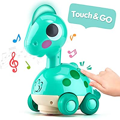 CubicFun Baby Toys Musical Touch and Go with Light Crawling Baby Toys 6 to 12-18 Months Infant Toddler Baby Boy Girl Toys for 1 2 Year Old Boy Girl Learning Development, Gift for Boys Girls Age 1 2 3