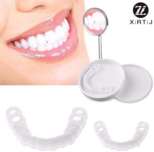 Zahn Prothese Zahnersatz Provisorischer Veneers Kosmetische Zahne Sofortiges Lacheln Upper and Lower Hochwertige Prothese Furnier Abdeckung