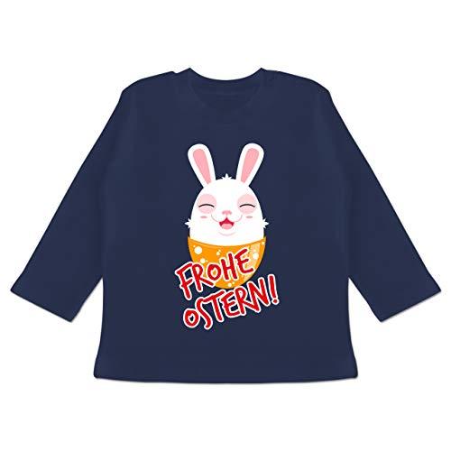 Ostern Baby - Frohe Ostern - Osterhase - 18/24 Monate - Navy Blau - Geschenk - BZ11 - Baby T-Shirt Langarm