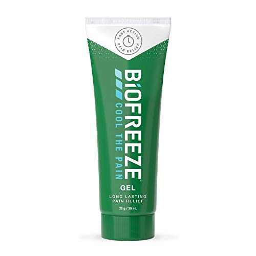 Biofreeze Pain Relieving Gel, 30ml Tube, Cooling Topical Analgesic, On-the-Go Use, Long Lasting, Soothing, Targeted Pain Relief, Cold Therapy for Athletes, Fast Acting for Muscle, Joint, & Back Pain