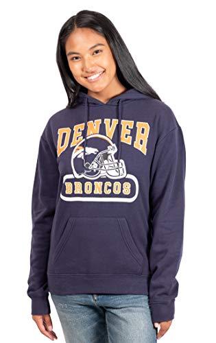 Ultra Game NFL Denver Broncos Womens Fleece Hoodie Sweatshirt, Team Color, Large